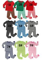 Wholesale new year s suit for sale - Group buy 2pcs Christmas Set New Year Girls Stripe Long Sleeve Top Pants Suit Home Clothing for different styles