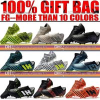 Wholesale Cheap Soft Ground Soccer Cleats - Cheap Original 2018 New Mens Nemeziz 17.1 FG Soccer Cleats Frim Ground Nemeziz Messi 17 Football Boots Outdoor Soccer Shoes Football Cleats