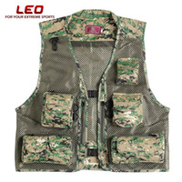 Wholesale LEO DC Outdoor Fishing Hunting Mesh Vest with Multiple Pockets