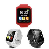 smartwatch für s5 großhandel-U8 Bluetooth Smart Watch U Uhren Touch Wrist Armbanduhr Smartwatch für iPhone 4 4S 5 5S Samsung S4 S5 Hinweis 3 HTC Android Phone Smartphones
