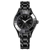 relógio de quartzo original venda por atacado-2018 Moda Senhora relógio de luxo Feminino relógio de quartzo preto mulheres relógio de cisne original Top design marca relógio de Pulso SatinlessSteel Pulseira relógio