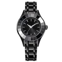 frauen armband luxus marke großhandel-Art- und Weisedame-Luxusuhr der Art und Weise 2018 weibliche schwarze Quarzuhrfrauen ursprüngliche Schwanuhr Spitzenentwurfsmarke Armbanduhr SatinlessSteel Armbanduhr