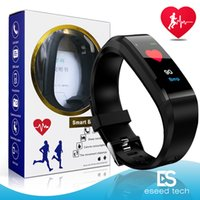 Wholesale fitness watches online - For apple watch Color Screen ID115 Plus Smart Bracelet Fitness Tracker Band Heart Rate Blood Pressure Monitor Smart Wristband pk fitbit