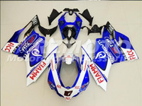 Wholesale Free gifts New Hot Injection ABS bike Fairings Kits Fitment For DUCATI Bodywork set Blue White D2