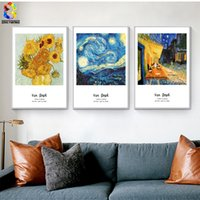 Wholesale Famous Paintings Posters - Van Gogh Famous Painting Canvas Art Print Poster Wall Picture for Living Room Decoration Abstract Home Decor