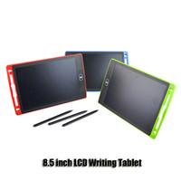 canetas para notebooks venda por atacado-8.5 polegadas Escrever Desenho Tablet Conselho Blackboard manuscrito Pads presente para m sem papel do bloco de notas Tablets Memo Com atualizado Pens DHL