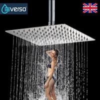 "EVERSO 8"" Bathroom Rainfall Shower Head Set Ceiling Rain Shower Handheld Head Overhead High Pressure"