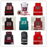 Wholesale men sleeveless tops - Mens jerseys Top quality #23 Jerseys Youth Classical All star Basketball Kids Jersey Men Sports wear embroidered Logos Cheap sports shirts