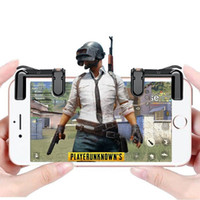 Wholesale force feedback games - Retail Sale Netop Mini Mobile Trigger Shooting Game Button for Mobile Game Joystick Physical Touch Game Controller BST-G4 4th Generation