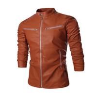 filme da jaqueta venda por atacado-Homens Marca Faux Leather Jacket Estrelas De Cinema Designer Jaqueta Mens Casaco