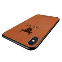 fundas iphone vaquero al por mayor-NUEVA funda de piel de cuero de lujo de la vendimia Cowboy a prueba de golpes Anti-Knock Phone Case para iPhone 6s 7 8 X XS XR XS MAX
