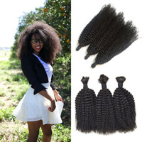 Wholesale braiding hair for sale online - Hot Sale Bundles Human Hair Bulk Unprocessed Afro Kinky Curly Bulk For Braiding No Weft Brazilian Human Hair G EASY