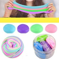 Wholesale kids educational metals resale online - Colorful Fluffy Mud DIY Cotton Slime Clay Scented Muds Stress Relief Toy Kids Educational Decompression Toys qx WW