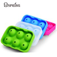 Wholesale plastic ball hole for sale - Group buy Dining Whiskey Cocktail Big Ice Cube Tray Holes Ice Cube Form Round Shaped Ice Ball Maker Silicone Mold Bar Kitchen Accessories