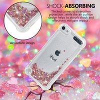 Wholesale skins move for sale - For Apple Ipod Touch G G Four Corners Luxury Shockproof Quicksand Soft TPU Case Glitter Sparkle Heart Bling Liquid Love Moving Skins