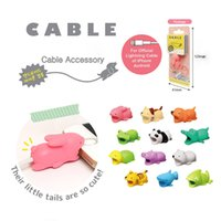 Wholesale port toys - Hot Cable BiteToy Cable Protector Animal Iphone Cable Bite Animal Doll 2*2*4cm Animal Iphone port Bite Data line protector toys