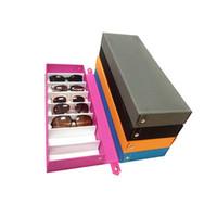 Wholesale Layers Sunglasses - Sunglasses Box Double Layer 8 Slots Eyeglass Gift Storage Organizer Eyewear Drawer Box Collector, Sunglasses Storage Box