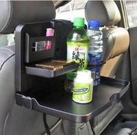 автомобиль задний сиденье держатель для напитков оптовых-Автомобильная еда закуски Кубок напиток держатель заднего сиденья лоток таблица путешествия вождение автомобиля стайлинг многофункциональный путешествия обеденный лоток CCA9675 10 шт.