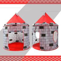 rotes spielzelt großhandel-Spielhaus für Innen und Außen Red Castle Schnellmontage-Spielzelt für Kinder Pop-Up-Design Einfache Montage Beinhaltet praktische Aufbewahrungstasche