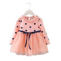 lange kleider für kleinkinder großhandel-Neugeborenes Baby Mädchen Sommer Kleidung heißer Langarm Kleid für Kleinkind Baby Mädchen Kleidung Party Prinzessin Tutu Kleider Kleid