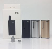 Wholesale black plastic rod for sale - Group buy Hibron H6 Preheat battery mah Variable Voltage vape pen battery with ml TH210 TH205 Ceramic Rod Thick Oil Cartridge Tank