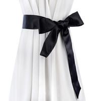 Wholesale dress fabric textile - 2017 new fabric wide belt high quality textile bowknot long belts for women match dress ribbon Satins Cummerbund female belt