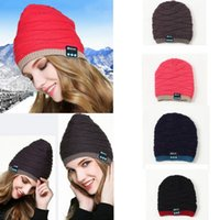 Wholesale new knitted hat resale online - Warm Hat New Smart Bluetooth Headset Hat Call Music Cap Knitted Caps music earphone Skullies MMA776