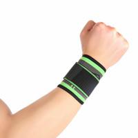 suporte elástico venda por atacado-Suporte de Pulso Brace Bandagem De Compressão Elastic Strap Hand Protector de Segurança Esportes de Fitness de Vôlei De Basquete Ao Ar Livre Acessórios