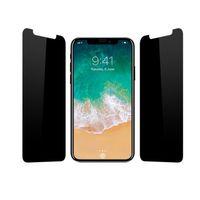 iphone için gizlilik ekran koruyucuları toptan satış-Gizlilik IPhone X XS Max XR Için Temperli Cam 8 7 6 6 S 8 Artı Anti-Casus Ekran Koruyucu 9 S Sertlik Temperli Cam Samsung S7 S6