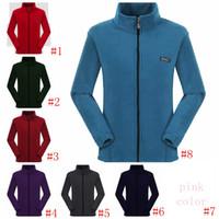 Wholesale polar jacket outdoor online - Fleece jacket Sherpa Pullover women Cardigan solid Polar Fleece Coat zipper thick sweater Outdoor Sweatshirts home clothing GGA1008