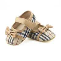 Wholesale baby girl moccasins online - Baby Girls Shoes Fashion PU Leather Bow Baby First Walker Shoes Soft Sole Anti slip Infant Moccasins
