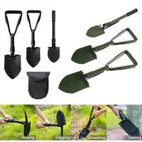 Wholesale garden tools shovel for sale - Folding Camping Shovel Survival Spade Trowel Garden Outdoor Tool for Camping Hiking Backpacking Fishing Garden Tools Outdoor Gadgets GGA866