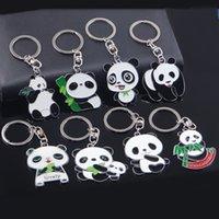 panda amantes llavero al por mayor-1 unids regalo del amante Panda llavero llavero llavero día de San Valentín llavero