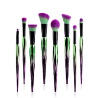 Wholesale brow concealer online - 8pcs Makeup Brushes Set Foundation Power Eye Shadow Brow Lip Concealer Fan Beauty Cosmetic Make Up Brush Tool Kit
