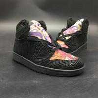 pintura de zapatos de diseñador al por mayor-Zapatos de baloncesto 2019 1s Los Primeros Cartoon Pintura Nuevo diseñador de moda Look interior exterior para hombre zapatillas