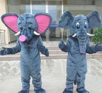 mascote dos desenhos animados do elefante venda por atacado-Três estilo de Alta qualidade EVA Material Capacete Elefante Trajes Da Mascote adereços partido dos desenhos animados Vestuário WS537