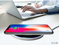 Wholesale Dock Desktop Charger - New ultra-thin mirrored metal desktop wireless charger for Samsung Apple iphonex phone fast charge
