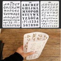 tarjetas de scrapbooking al por mayor-Alfabeto Número ABC Plantillas de acodado Etiqueta Pintura Scrapbooking Plantilla de tarjeta de papel Decoración