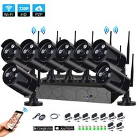 Wholesale 8CH P HD Wireless NVR Kit P2P P Indoor Outdoor IR Night Vision Security MP IP Camera WIFI CCTV System