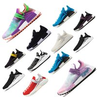 Wholesale online athletic shoes for sale - Group buy Cheap Online Human Race Pharrell Williams X HU women men Sports Running Shoes discount Cheap Athletic mens Shoes free ship