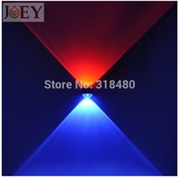 Wholesale Glass Cabinet Lighting - RGB LED wall lamps Sconces lights for Bedroom Foyer Modern wall mount lamps cabinet lighting fixture LED 2*1W