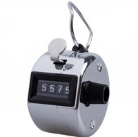 Wholesale Hand Tally Manual Counters - Hand Tally Counter Stainless Metal Mini Sport Lap Golf Hand Held Manual 4 Digit Number Tally Click Cunters OOA4034