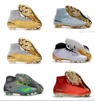Wholesale Footbal Boots - 2018 Mercurial Superfly FG CR7 Magista Obra Soccer Shoes Cristiano Ronaldo Cleats Neymar Footbal Shoes Cheapest Soccer Boots