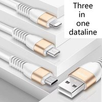 Wholesale round copper braid online - 2018 New in1 USB Cable Round Braided Copper Sync Data Charging USB Cable