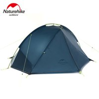 Wholesale Cycling Tent - Naturehike 2 Person Hiking Tent Pro 20D Silicone Fabric Wateproof Single Pole Light Tent NH Camping Cycling Backpacking 3 Season