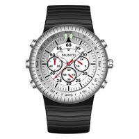 ingrosso orologi di grande fascia-Orologi da uomo Top Brand di lusso impermeabile orologio al quarzo uomo in silicone banda grande quadrante orologio da polso sportivo orologio maschile