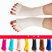 ingrosso piede di yoga-Calzini yoga cinque dita massaggio separatore del piede sollievo dal dolore salute morbida uomini donne stretch tendine alleviare acrylon 6yk v