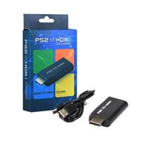 ps2 hdmi großhandel-NEUE PS2 zu HDMI Audio Video Converter Adapter mit 3,5 mm Audio Ausgang PS2 Player zu HDMI für HDTV Unterstützung 480i 576i 480 P