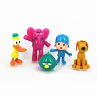 Lovely 5 Pcs Lot Small P You Doll 5 Pocoyo Zinkia Cute Toy Gift Doll Hand  Decoration Office Ornaments