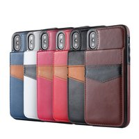 Wholesale Mobile Phone Leather Lanyard - Hot mobile phone wallet leather case for iphone X 7 7plus 8 8plus with card slot lanyard protection shell cover for 6 6S 6plus